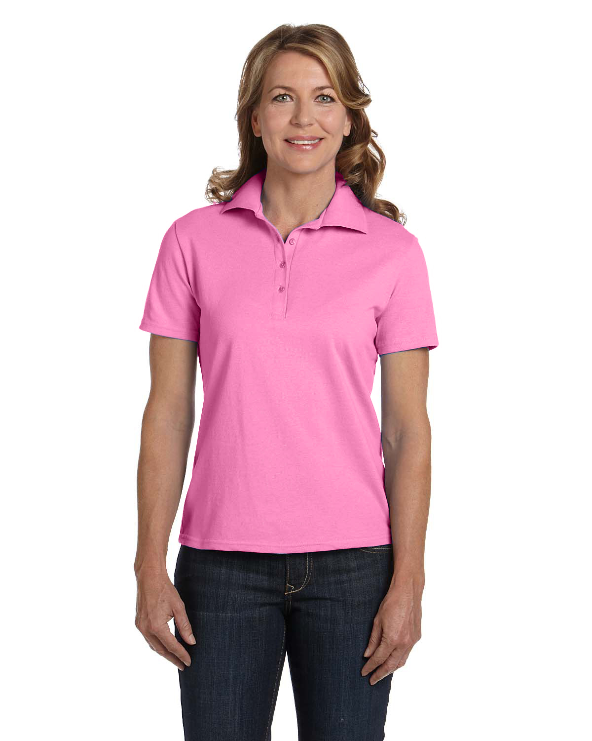 Womens cotton polo buy wholesale hanes cotton pique for Where to buy polo shirts cheap