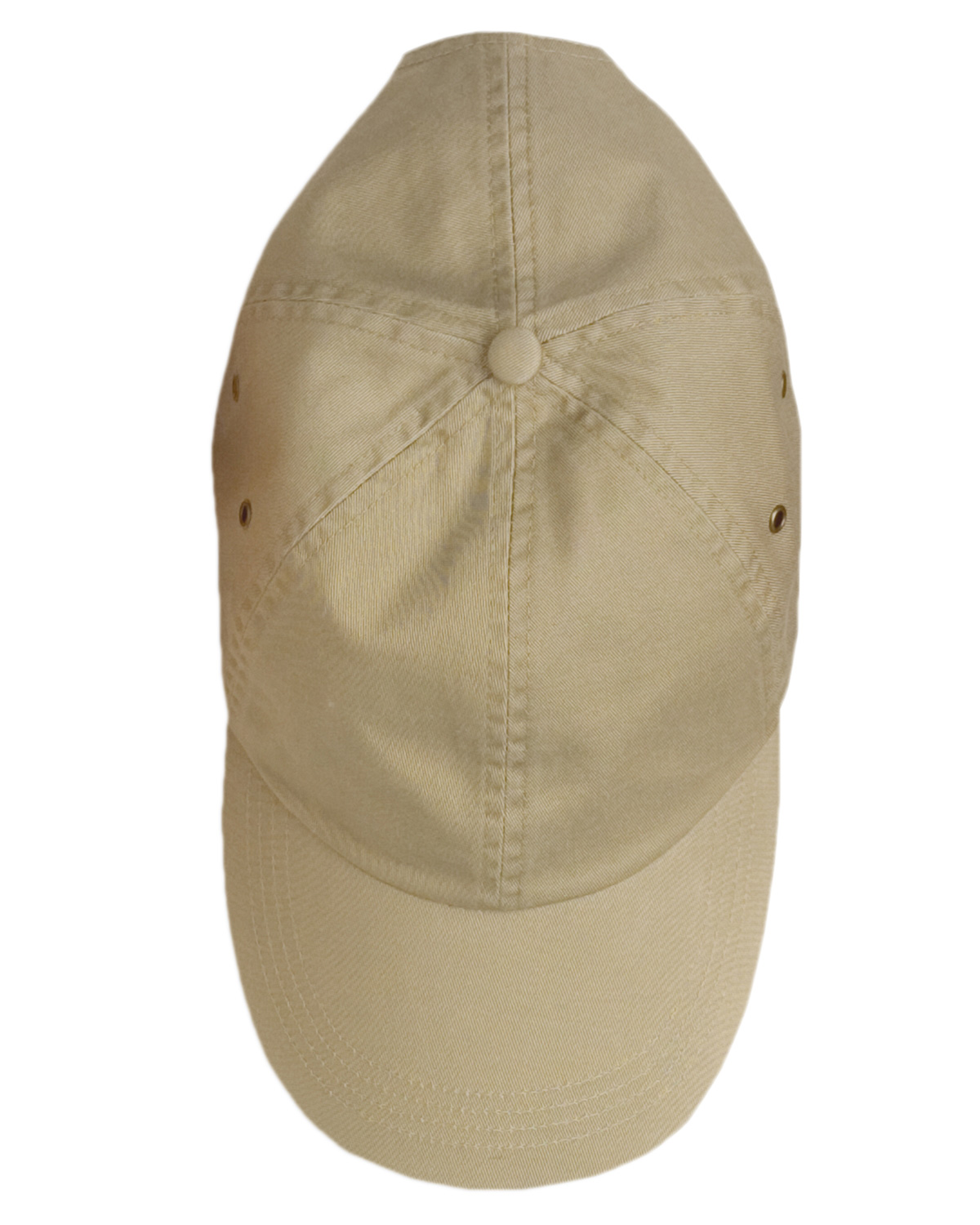 Anvil 156 Unisex Solid Low-Profile Twill Cap Khaki at GotApparel