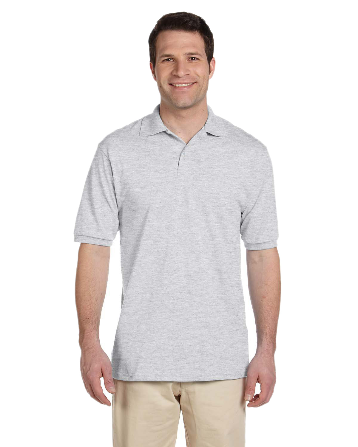 Jerzees 437 Men 5.6 oz., 50/50 Jersey Polo with SpotShield Ash at GotApparel