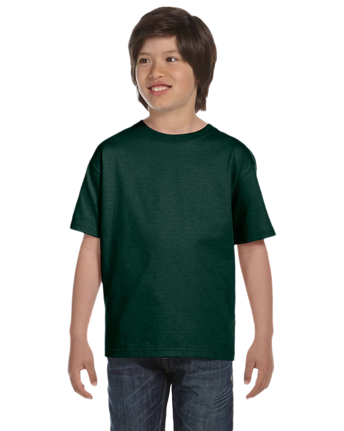 Hanes 5380 Boys 6.1 oz. Beefy-T Deep Forest at GotApparel