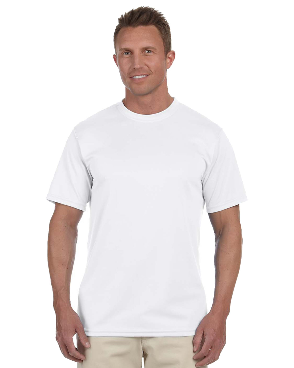 Augusta 790 Men Wicking Short Sleeve T White at GotApparel