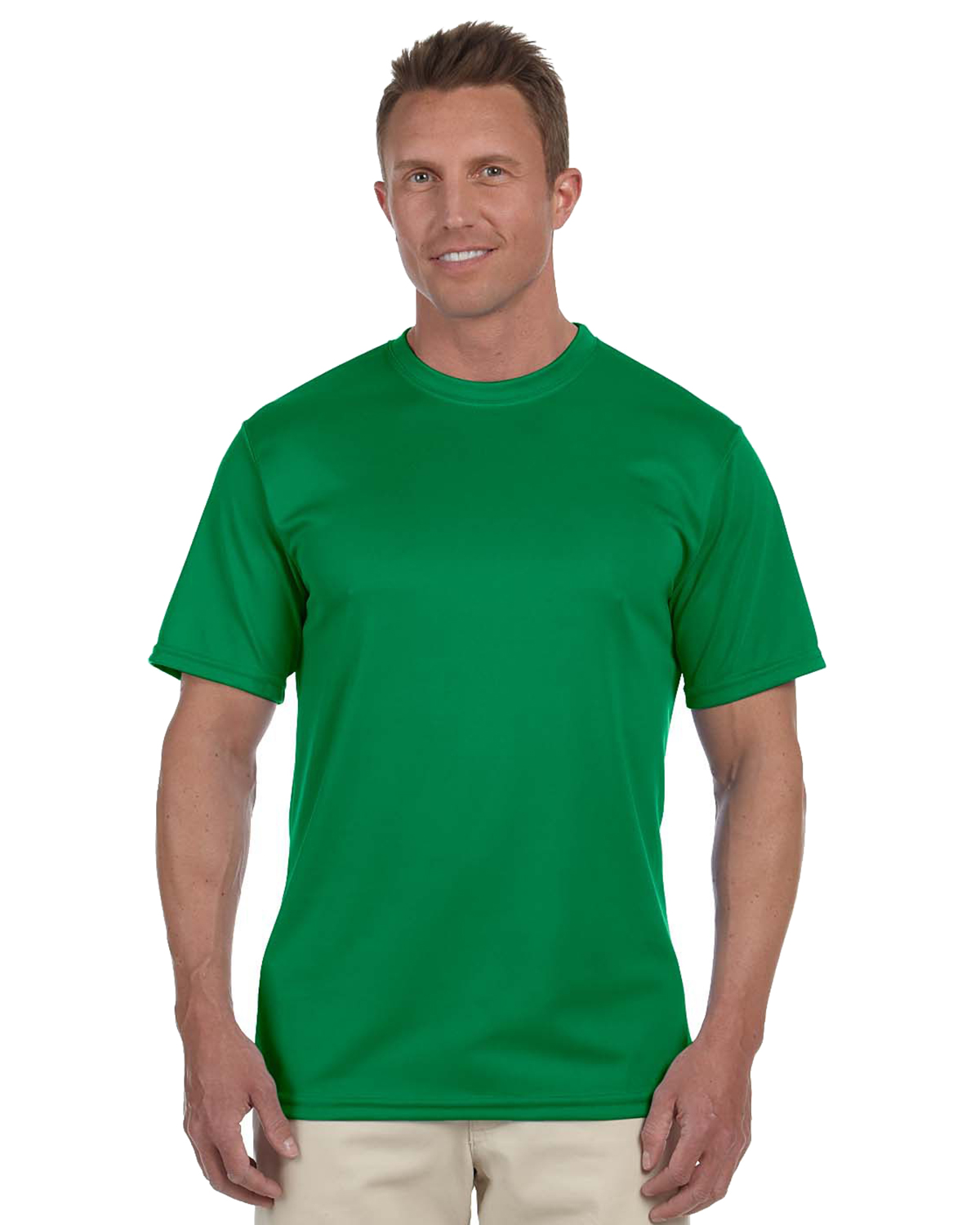 Augusta 790 Men Wicking Short Sleeve T Kelly at GotApparel