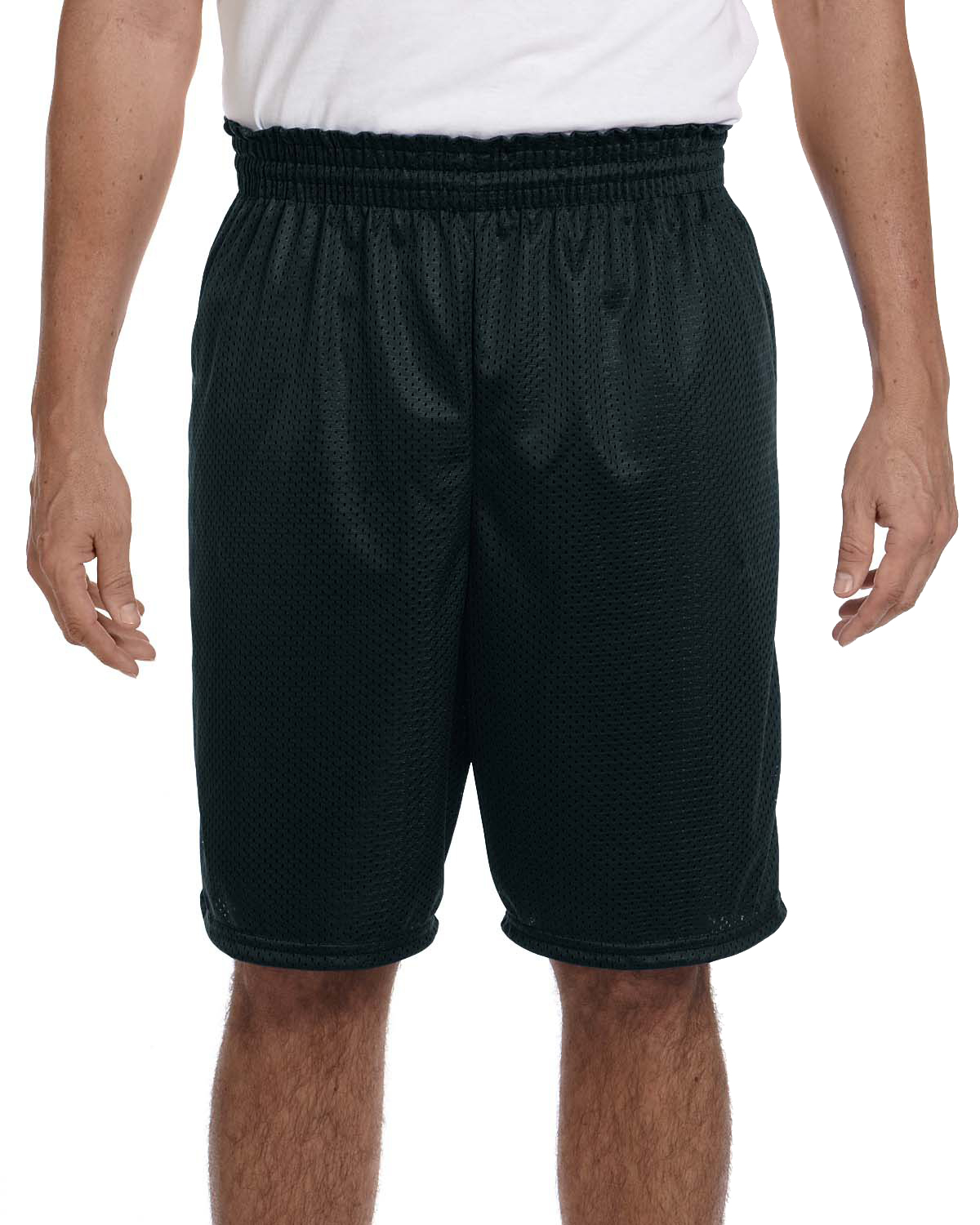 Augusta Sportswear 848 Men's 100% Polyester Tricot Mesh Short Black at GotApparel