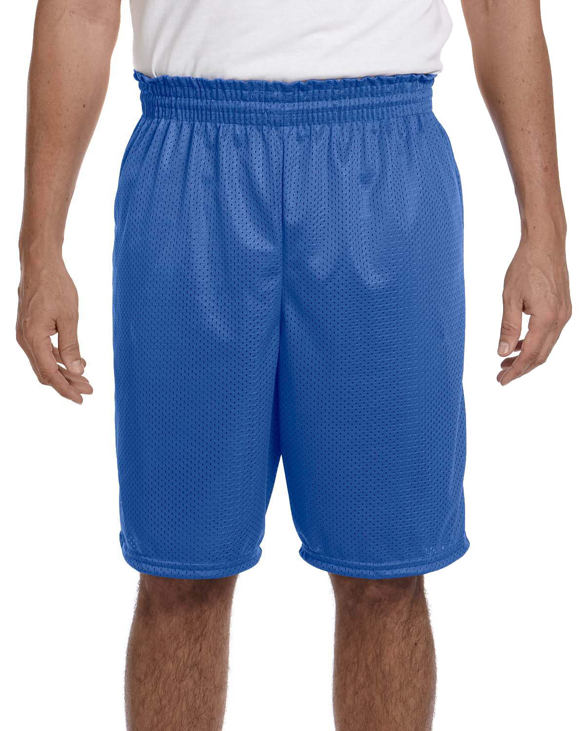 Augusta 848 Men 100% Polyester Mesh Shorts Royal at GotApparel