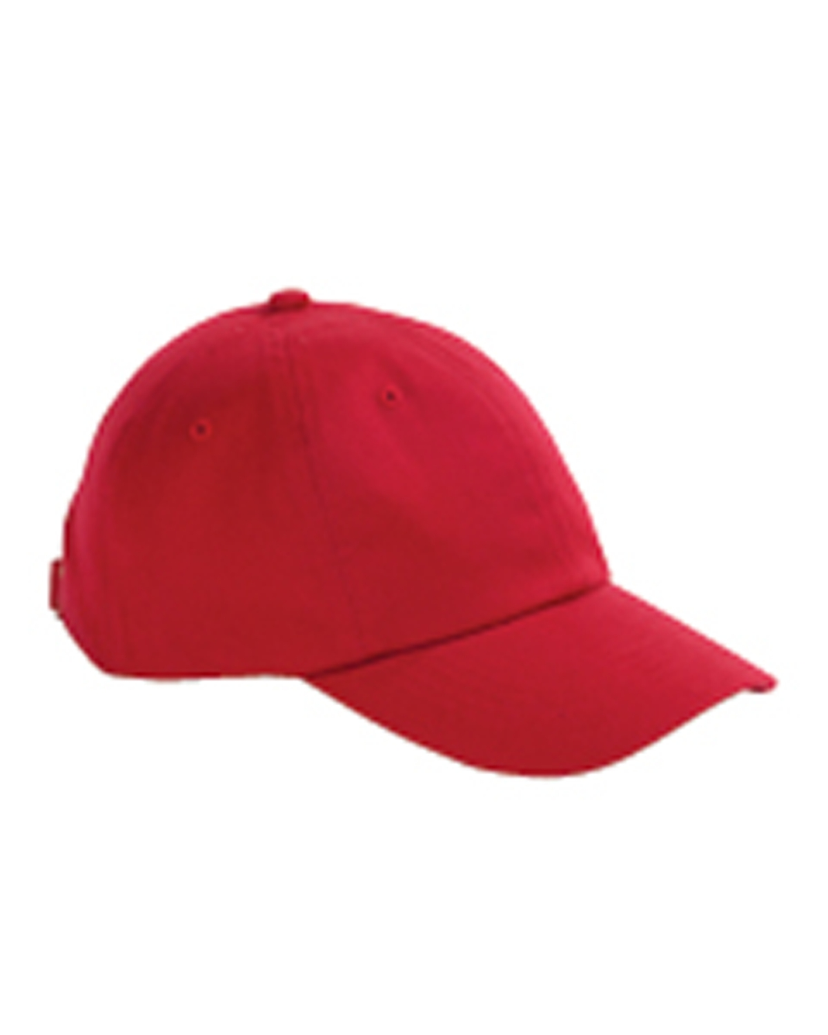 Big Accessories / BAGedge BX001 Unisex 6-Panel Brushed Twill Unstructured Cap Red at GotApparel