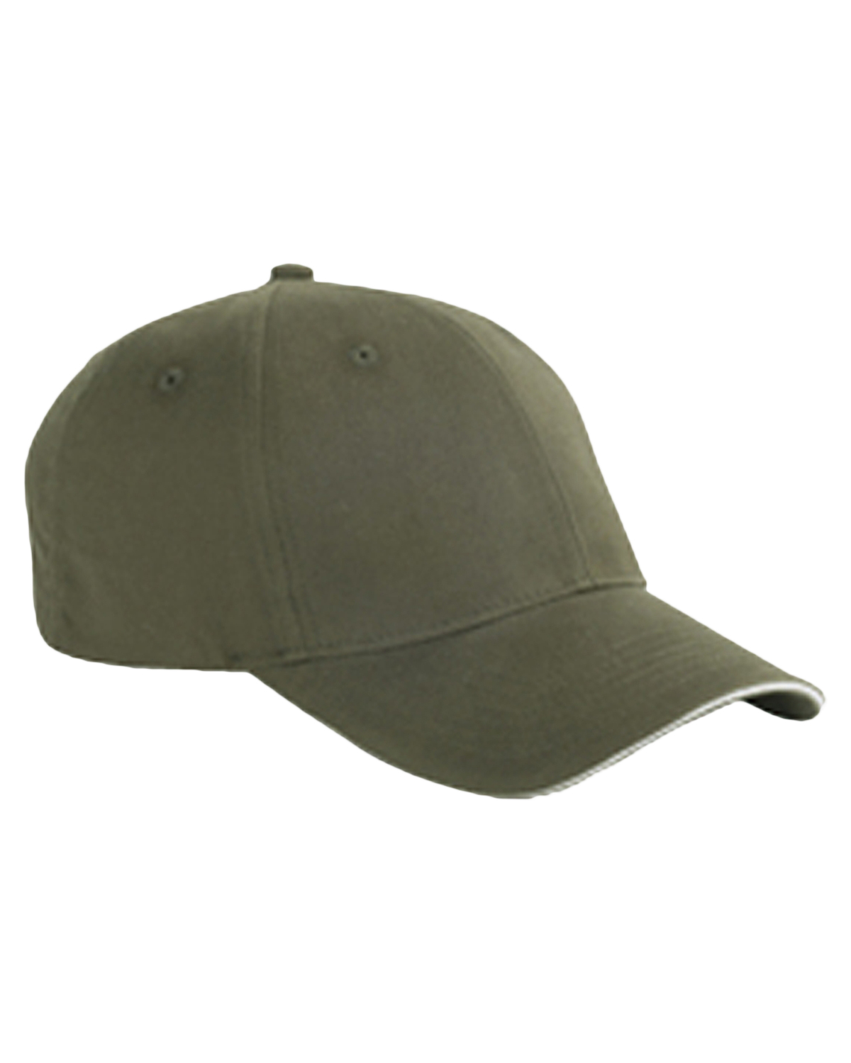Big Accessories / BAGedge BX004 Unisex 6-Panel Twill Sandwich Baseball Cap Olive/Stone at GotApparel