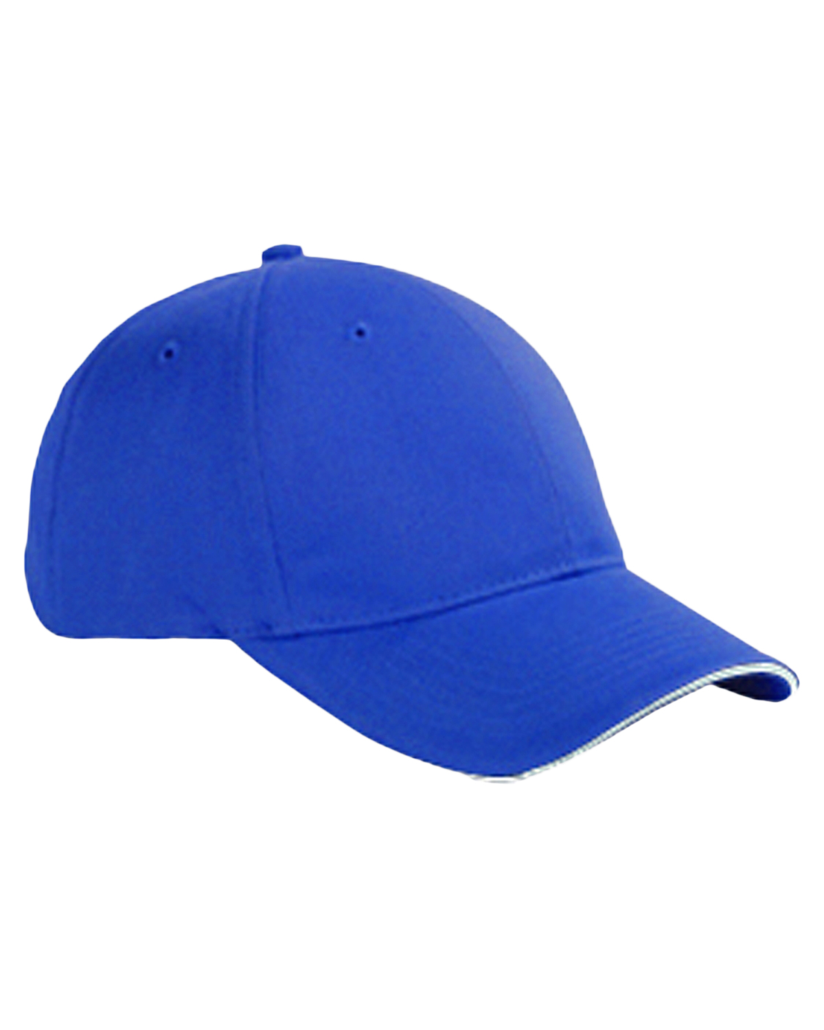 Big Accessories / BAGedge BX004 Unisex 6-Panel Twill Sandwich Baseball Cap Royal/White at GotApparel