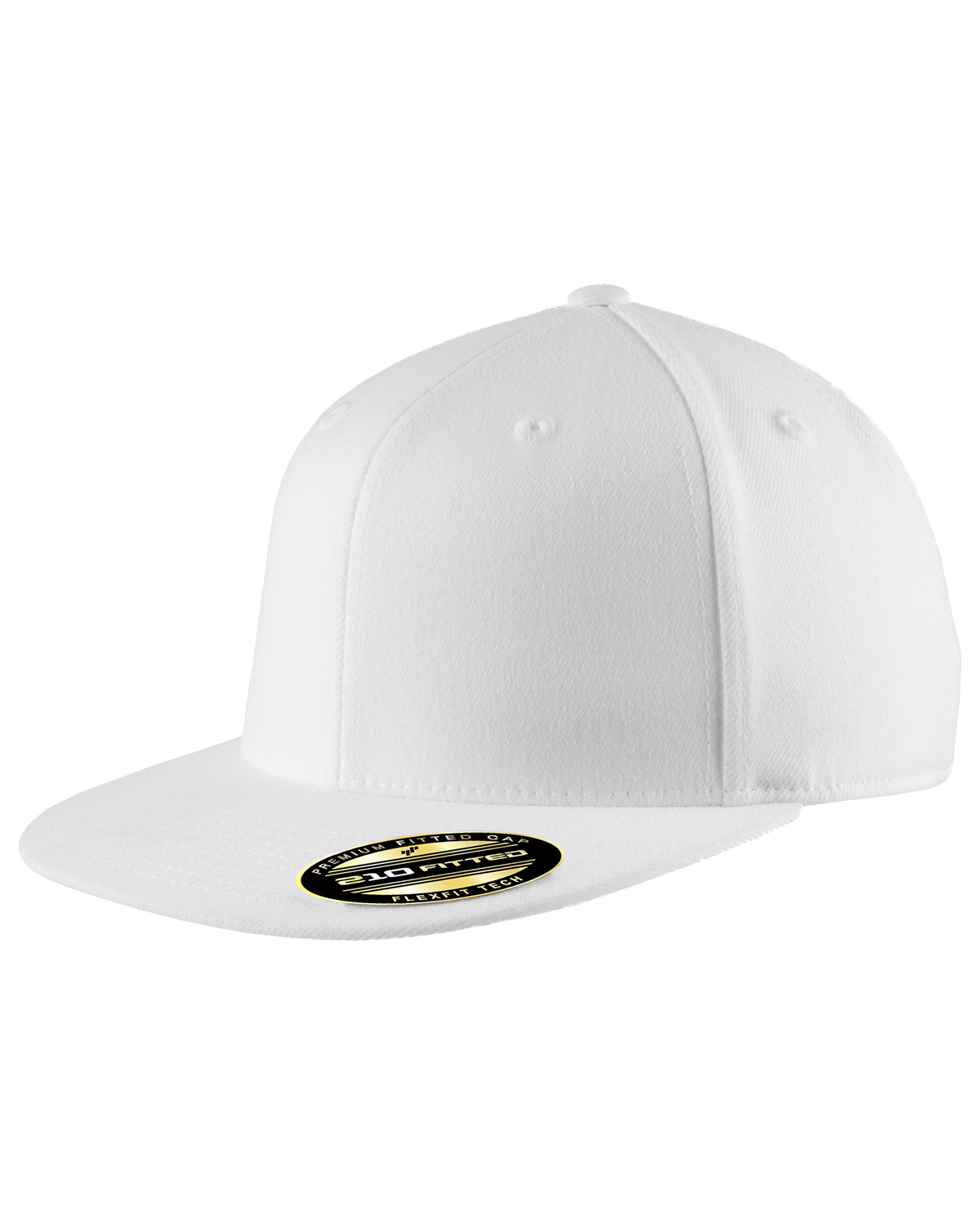 Port Authority C808 Unisex Flexfit Flat Bill Cap White at GotApparel