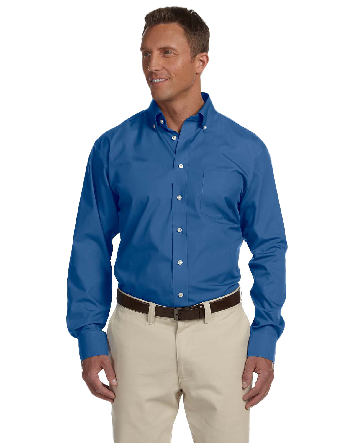Chestnut Hill CH600 Men Executive Performance Broadcloth Atlantic at GotApparel