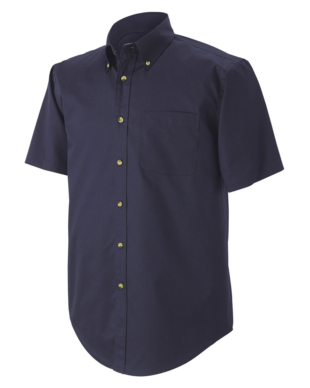 Devon & Jones Classic D555S Men Performance Short Sleeve Twill Ink at GotApparel