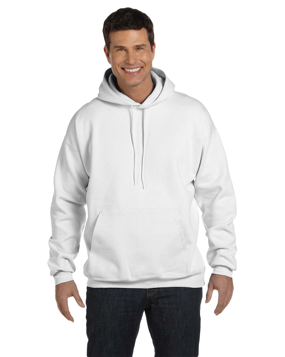 Hanes F170 Men 9.7 oz. Ultimate Cotton 90/10 Pullover Hood White at GotApparel