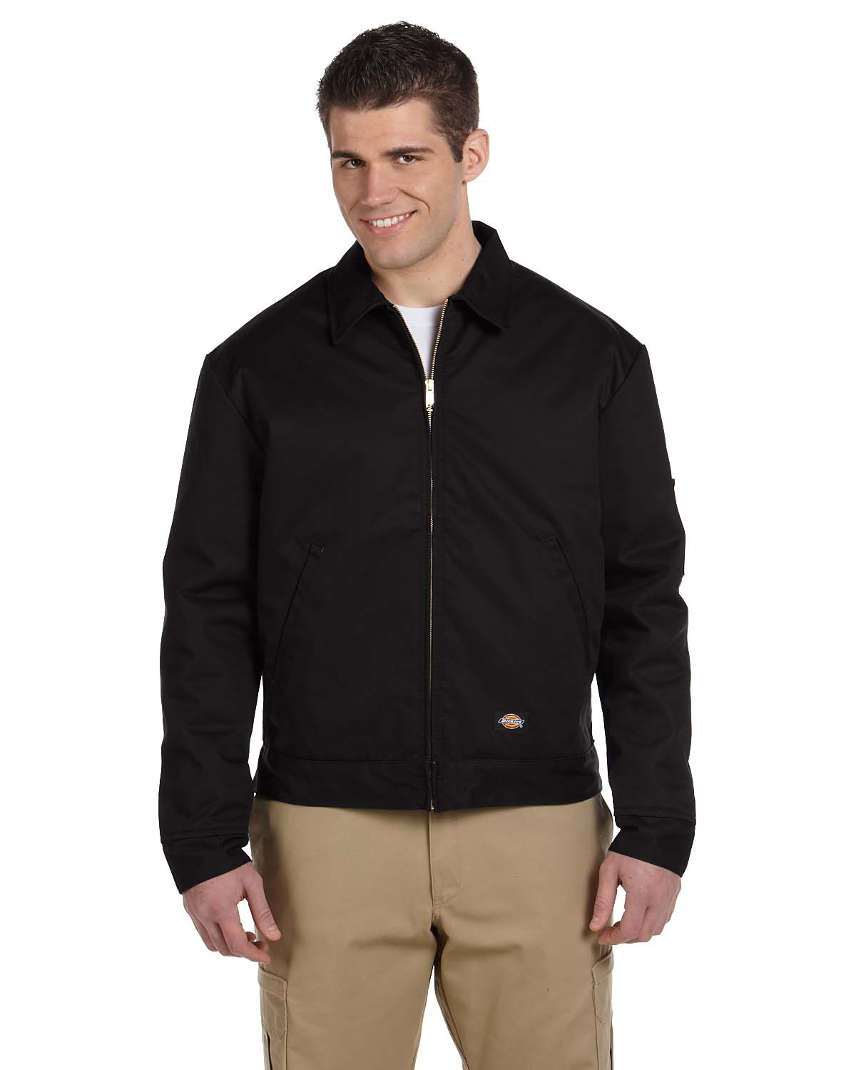 Dickies JT15 Men 8 oz. Lined Eisenhower Jacket Black at GotApparel