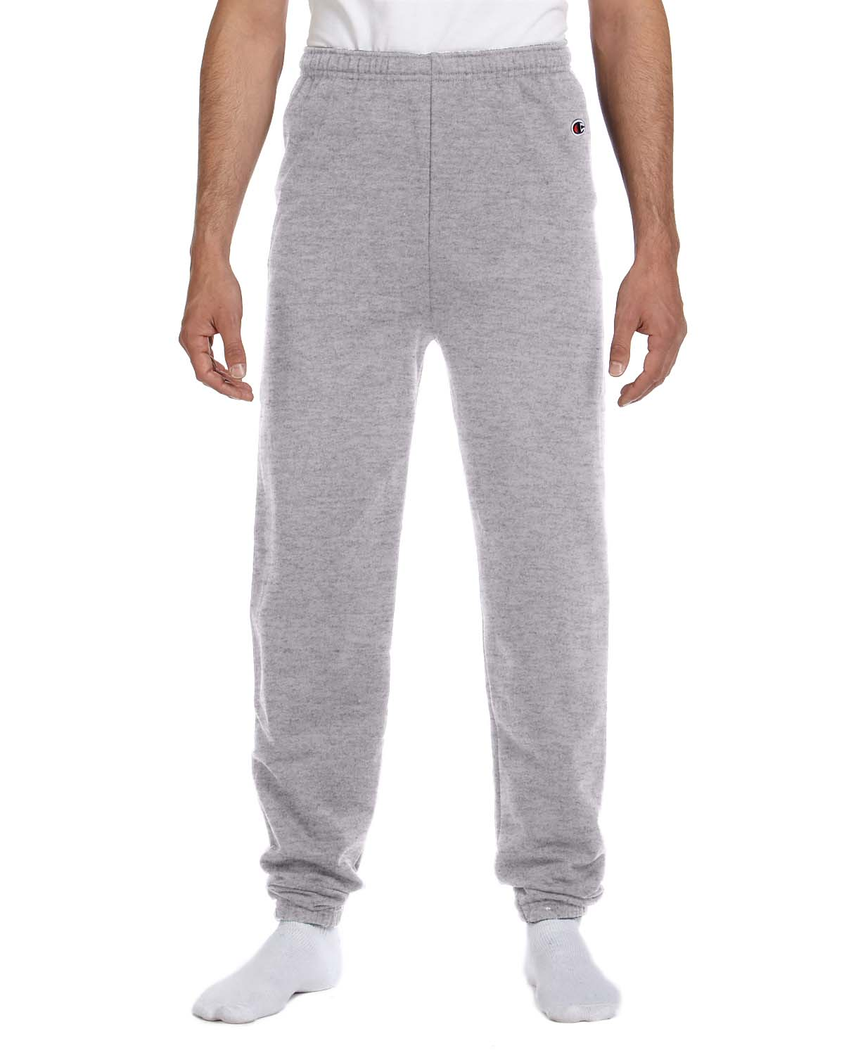 Champion P2443C Men 9 Oz., 50/50 Sweatpants Light Steel at GotApparel