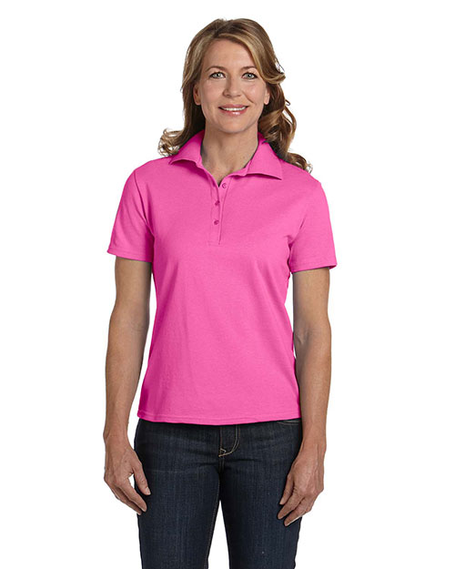 Hanes 035 Women 7 oz. ComfortSoft Cotton Pique Polo at GotApparel