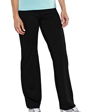 Tri-Mountain 042 Women's 90% Poly 10% Span Training Pant BLACK at GotApparel