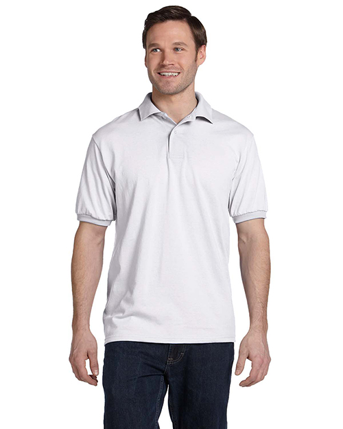 Hanes 054 Men 5.2 Oz 50/50 Ecosmart Jersey Knit Polo at GotApparel