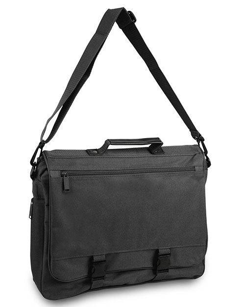 UltraClub 1012 Unisex Expandable Briefcase Black at GotApparel