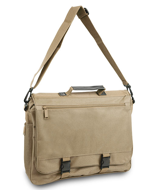 UltraClub 1012 Unisex Expandable Briefcase Light Tan at GotApparel