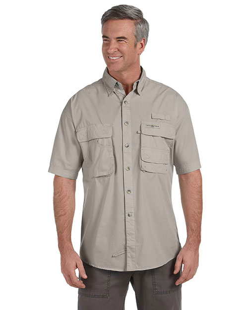 Hook & Tackle 1013S Men Gulf Stream short sleeve Fishing Shirt Sand at GotApparel