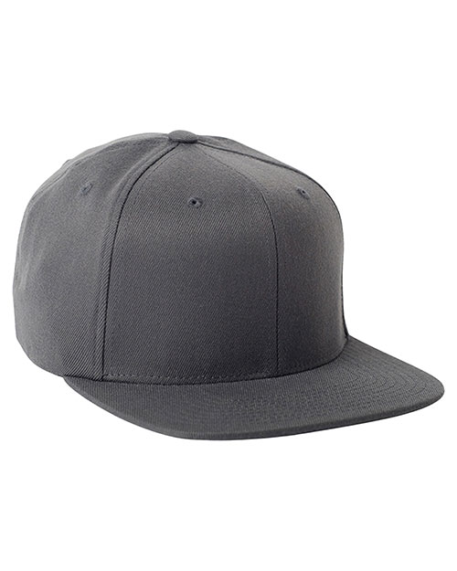 Yupoong 110F Men Fitted Classic Shape Cap Dark Grey at GotApparel