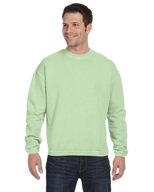 Authentic Pigment 11561 Men 11 oz. PigtDyed Ringspun Fleece Crew Celery at GotApparel