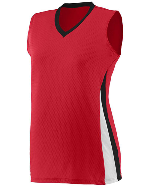 Augusta 1355 Women Sleeveless Tornado Volleyball V-Neck Jersey at GotApparel