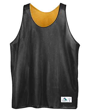 Augusta Drop Ship 137 Boy's Reverse Mini Mesh League Tank Black/Gold at GotApparel