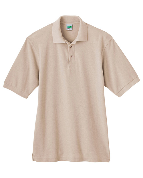 White Swan Brands 14011  Fundatals  Pique Knit Polo Shirt.  28 Length.  3 Button Closure.  Ribbed  Collar And Cuffs.  Side Slits.  Dyed To Match Our Scrub Colors.  50/50  . at GotApparel