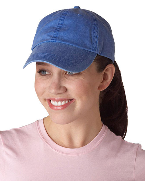 low profile baseball caps womens cap plain anvil unisex solid deck blue
