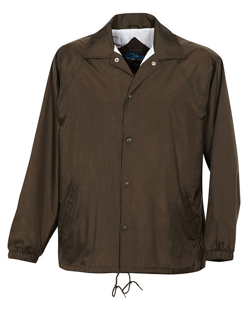 Tri-Mountain 1500 Men Coach Taffeta Nylon Coachs Jacket With Flannel Lining at GotApparel
