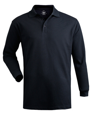 Edwards 1540 Unisex Soft Touch Cotton Long-Sleeve Pique Polo at GotApparel