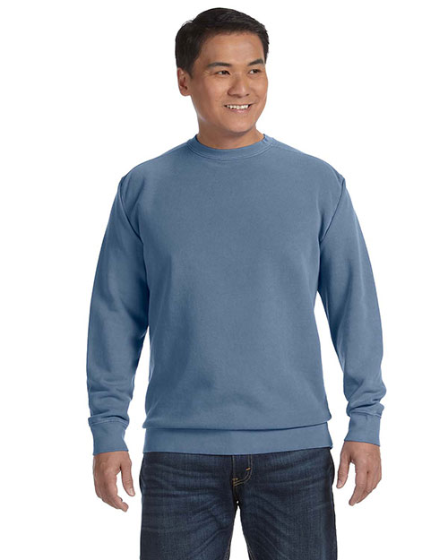 Comfort Colors 1566 Garment-Dyed Fleece Crew BLUE JEAN at GotApparel