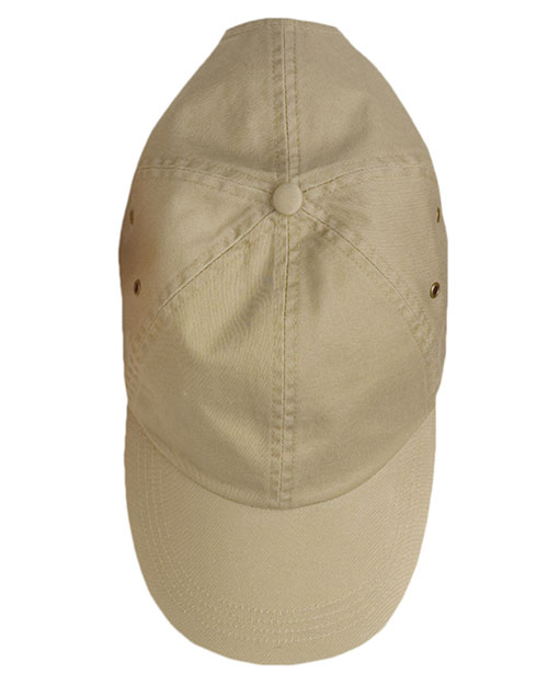 Anvil 156  Twill Baseball Cap KHAKI at GotApparel