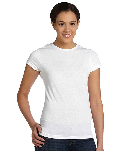 Sublivie 1610 Women Polyester T-Shirt White at GotApparel