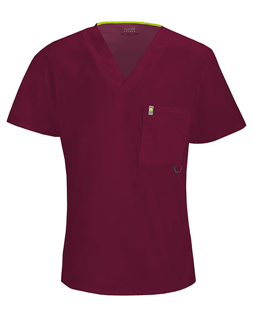 Code Happy 16600A Men V-Neck Solid Scrub Top at GotApparel