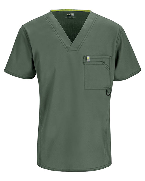 Code Happy 16600AB Men V-Neck Solid Scrub Top at GotApparel