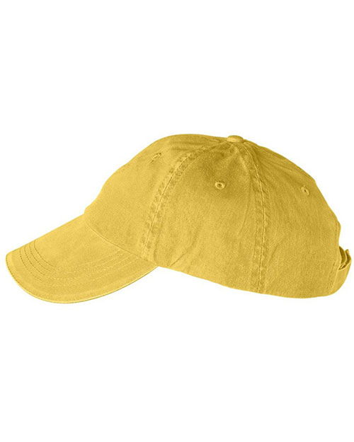 Anvil 166 Unisex Solid Low-Profile Sandwich Trim PigmentDyed Twill Cap at GotApparel