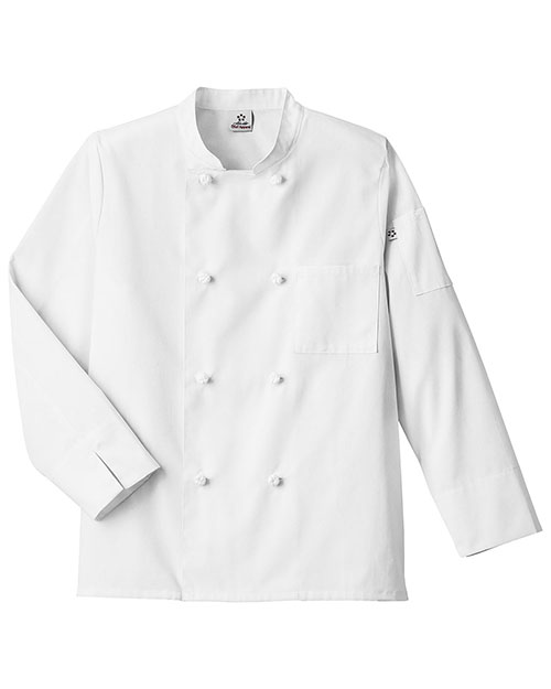 Five Star 18016  Knot Button Chef Coat at GotApparel
