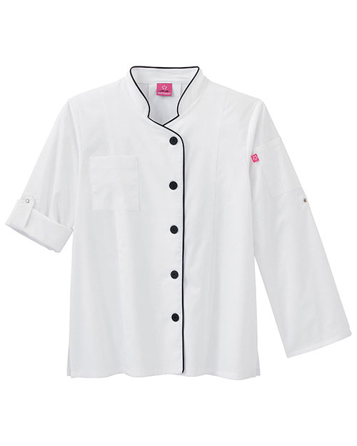Five Star Women 18504 Long Sleeve Stretch Executive Chef Coat at GotApparel