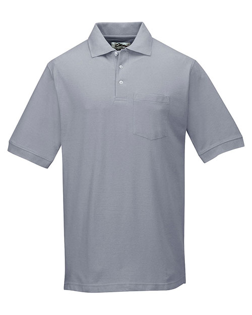 Tri-Mountain 189 Men Caliber Ltd Cotton Baby Pique Short Sleeve Pocketed Golf Shirt at GotApparel