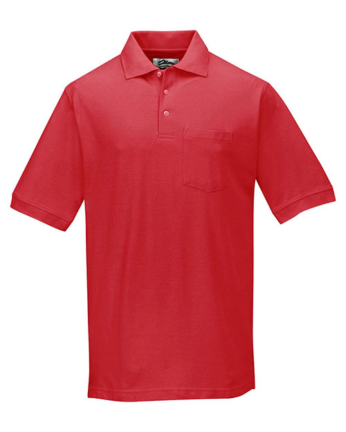 Tri-Mountain 189 Men Cotton Pique Pocketed Golf Shirt at GotApparel