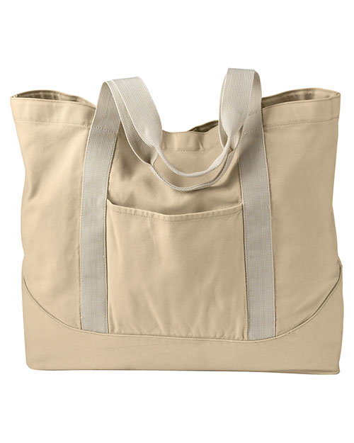 Authentic Pigment 1904  Unisex 14 oz. PigmentDyed Large Canvas Tote Putty at GotApparel