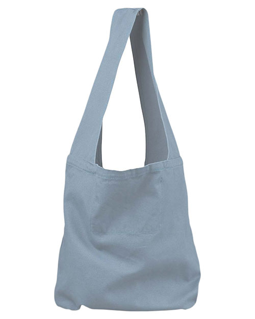 Authentic Pigment 1911  Unisex 12 oz. DirectDyed Sling Bag Bluegrass at GotApparel