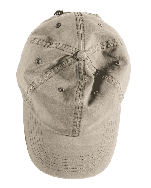 Authentic Pigment 1912  Unisex DirectDyed Twill Cap Stone at GotApparel