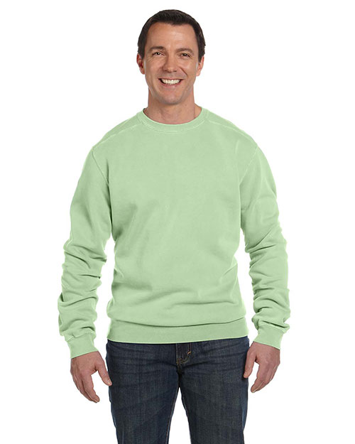 Authentic Pigment 1975 Men 11 oz. PigtDyed Fleece Crew Celery at GotApparel