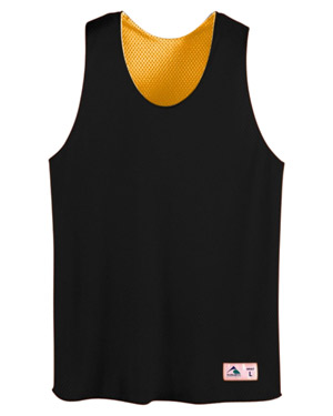 Augusta 198 Boys Tricot Mesh Reversible Tank Black/Gold at GotApparel