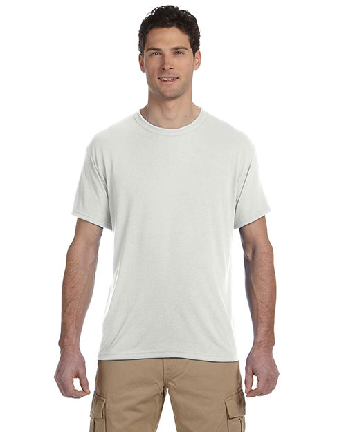 Jerzees 21M 5.3 oz., 100% Polyester SPORT with MoistureWicking T-Shirt White at GotApparel