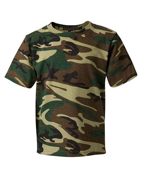 Code V 2206 L.A.T. Camo T-Shirt Green Woodland at GotApparel