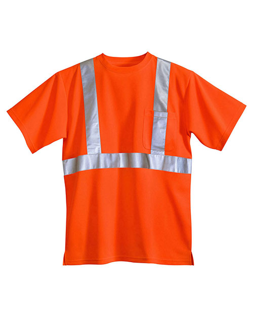 Tri-Mountain 222 Men Boundary Safety Shirt Ansi Class 2/Level 2 at GotApparel