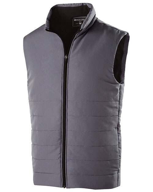 Holloway 229514 Men Polyester Full Zip Admire Vest at GotApparel